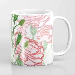 pink and red carnation watercolor painting Coffee Mug