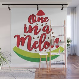 Funny Summer Sun Beach Holiday Fruity Melone Gift Wall Mural