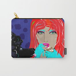 """Black Poodle"" Paulette Lust's Original, Contemporary, Whimsical, Colorful Art  Carry-All Pouch"