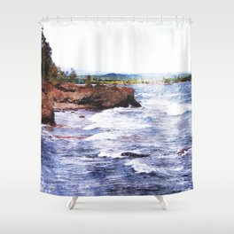 Upper Peninsula Landscape Shower Curtain