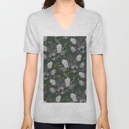 Hummingbirds and Bees (don't let them fade away) Unisex V-Neck
