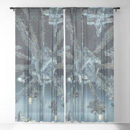 Space Dock Rendezvous Sheer Curtain