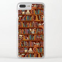Bookshelf Clear iPhone Case