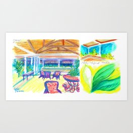 caribe hotel Art Print