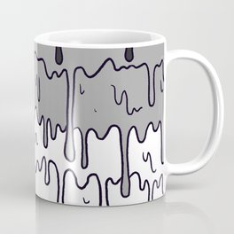 Cute Pride Pastel Melting Pride Design, Asexual  flag Coffee Mug