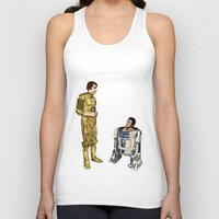 c3po Tank Tops featuring C3PO & R2D2 by joshuahillustration
