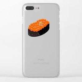 Space Odyssey Sushi | Astronaut Sushi | Space Sushi | Galaxy Sushi | Ikura Sushi | pulps of wood Clear iPhone Case