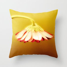 Glowing Yellow Drooping Flower | Nadia Bonello Throw Pillow