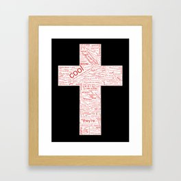 wow trendy controversial Framed Art Print