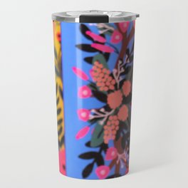 Puffin in Bloom - Ready for Closeup Travel Mug