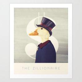 Justice Ducks - The Zillionaire Art Print