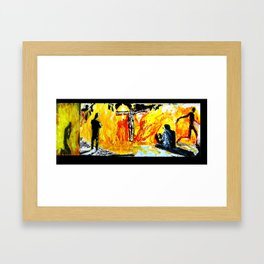 BURN  a composite work made up of six different paintings from the same series Framed Art Print