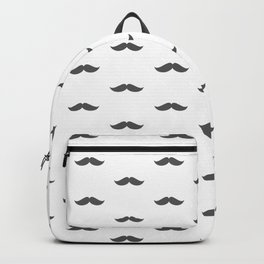 Dark Grey Mustache pattern  Backpack