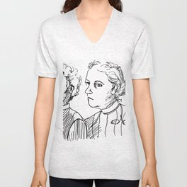 Frauen Unisex V-Neck