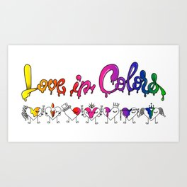 Love In Colors Art Print