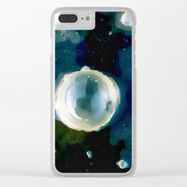 Ice Bubble Nebula. Clear iPhone Case