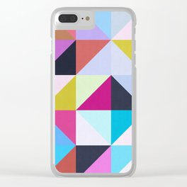 Vibrant and colorful geometry II Clear iPhone Case