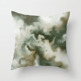 Bubbles in the sky Throw Pillow