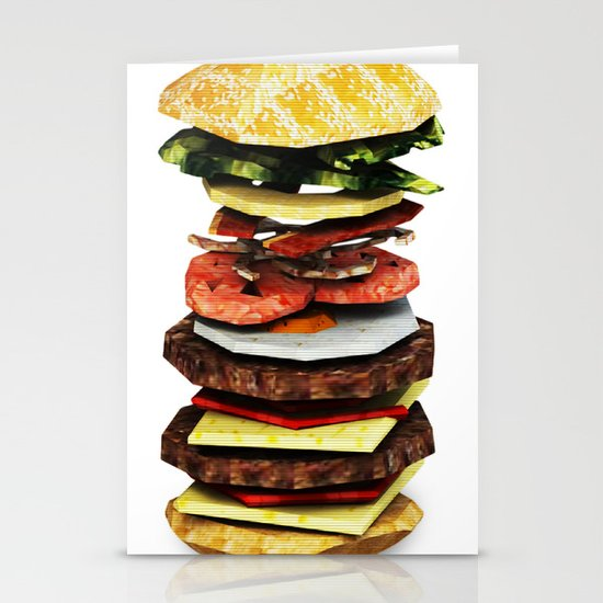 Graphic Burger Stationery Cards
