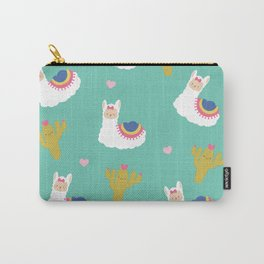 Llama Love Cactus Carry-All Pouch