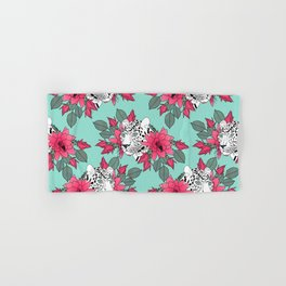 Stylish leopard and cactus flower pattern Hand & Bath Towel