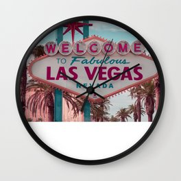 Welcome To Las Vegas Sign, Fine Art Photography Wall Clock