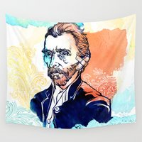 van gogh Wall Tapestries featuring Van Gogh by Jon Cain