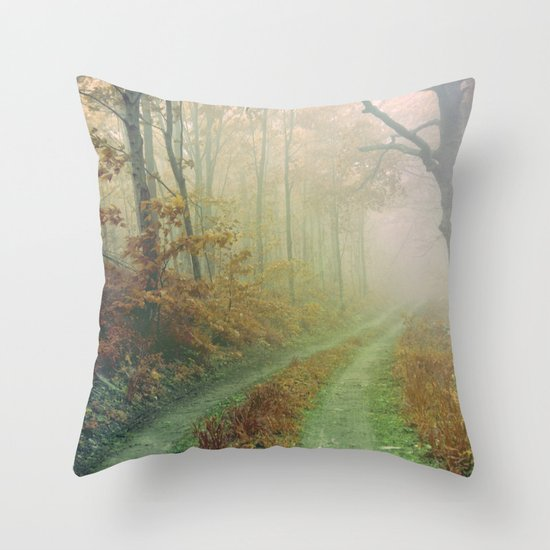 Autumn Road Throw Pillow