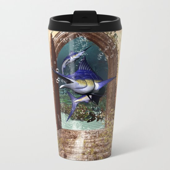 Awesome marlin Metal Travel Mug