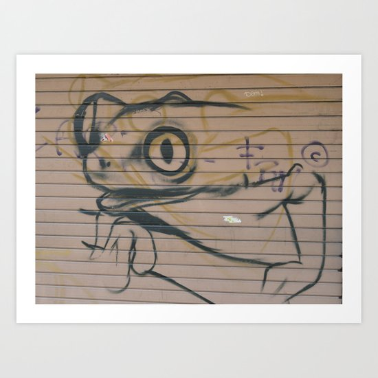 Sicilian Street Frog Art Print