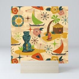 Midcentury Modern Tiki Mini Art Print