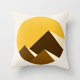 Abstraction_Mountains_YELLOW_001 Throw Pillow