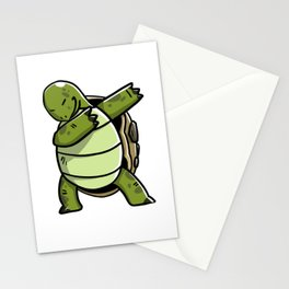 Funny Dabbing Tortoise Pet Dab Dance Stationery Cards