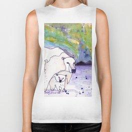 Polar Bear Mommy Biker Tank