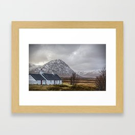 Black Rock Cottage  Glencoe Framed Art Print