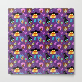 GIRLS PATTERN Metal Print