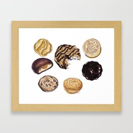 Girl Scout Cookies Framed Art Print
