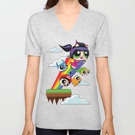 The Power Nyan Girl Unisex V-Neck