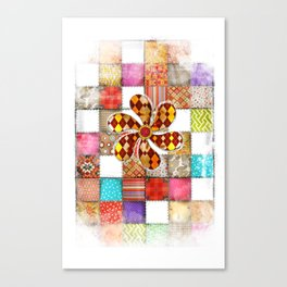 Lady Patchwork (Bulgarian Love) Canvas Print