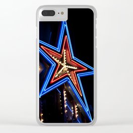 neon star Clear iPhone Case