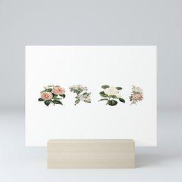 Vintage flower chart Mini Art Print