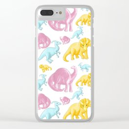 Dinosaur Pattern 2 Clear iPhone Case
