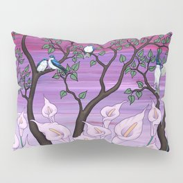 calla lilies & tree swallows Pillow Sham