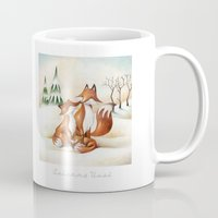 foxes Mugs featuring Foxes by Arianna Usai