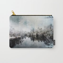 Winter on the Menominee Carry-All Pouch