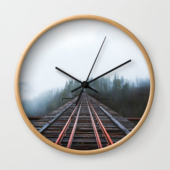 Abandoned Railroad Vance Creek Bridge - Olympic National Park, Washington Wall Clock