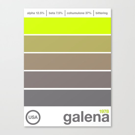 galena//single hop Canvas Print