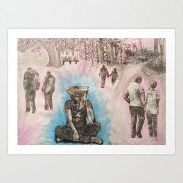 Bag Head Art Print
