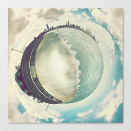 Tiny Planet Chicago Canvas Print