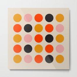 Retro Bauhaus Dots | 70s European Pattern Metal Print